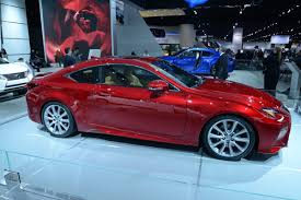lexus rc 350 new lexus rc 350 shows off its luminous red paint in detroit