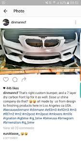 m2 front bumper on an e92