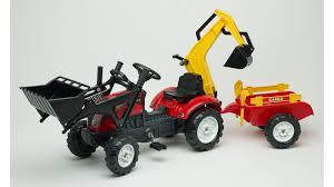 bruder excavator trac red loader excavator trailer rake u0026 shovel