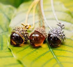 amber necklace pendant images Acorn amber pendant necklace angelsale jpg