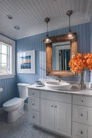 Bathroom Ideas Coastal Bathroom With Blue And White Motif Blue - Elegant white cabinet bathroom ideas house