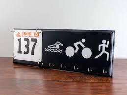 triathlon medals holder swim bike run race