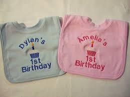 1st birthday bib personalised birthday bib co uk baby