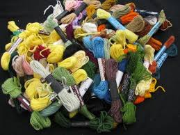 50s vintage crewel embroidery needlepoint yarn lot wool