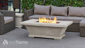 real flame monaco low rectangle fire table youtube