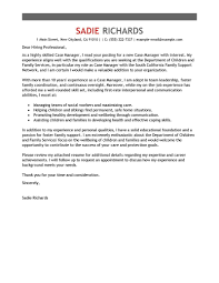 cover letter examples for social workers case manager cover letter examples social services cover letter