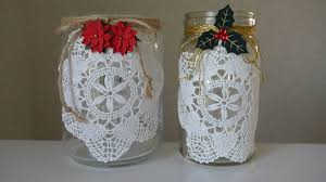 christmas crafts crochet doily lamps