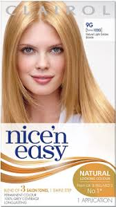 Light Golden Blonde Hair Color Cleary U0027s Pharmacy Clairol Nice U0026 Easy Permanent Hair Dye 9g