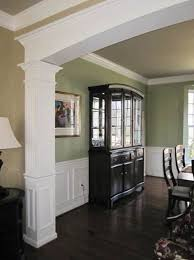 dining room molding ideas dining room with custom millwork archway chair rail and panel
