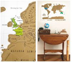 Scratch Off World Map This Scratch Off World Map Lets You Show Off Your Travels