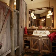rustic bathroom decor ideas awesome pendant bathroom lightings ideas with reclaimed wood half