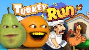 turkey run thanksgiving day annoying orange plays thanksgaming turkey run w pear youtube