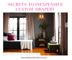 Cheaper Than Pottery Barn Secrets To Inexpensive But Good Drapery Emily Henderson