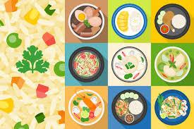 thai design thai food vector flat design illustrations creative market
