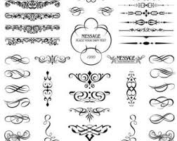 calligraphy clipart decorative symbol pencil and in color
