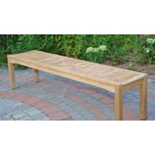teak backless 5 ft seating width garden bench free shipping