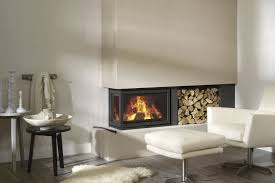 wood burning fireplace insert corner instyle corner low by dik