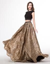 aliexpress com buy cap sleeve long 2 piece leopard print prom