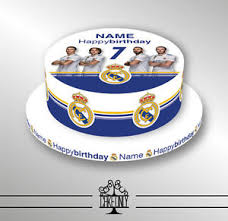 personalised birthday cakes real madrid personalised birthday cake printed icing sheets cake