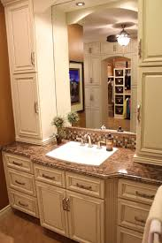 White Bathroom Cabinets With Dark Counter Tops Fabulous Decorating Ideas Using Rectangular White Sinks And
