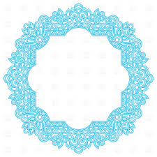blue herbal ornament vector clipart image 28613 rfclipart
