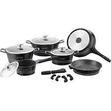 achat batterie de cuisine royalty line batterie de cuisine 14 pièces revêtement marbre