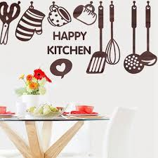 wallpaper peralatan dapur new removable happy kitchen cooking art home stickers utensil