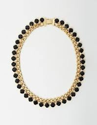 black necklace with gold images Necklaces izoa jpg