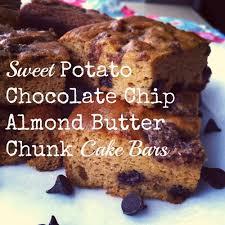 recipe sweet potato chocolate chip almond butter chunk cake bars