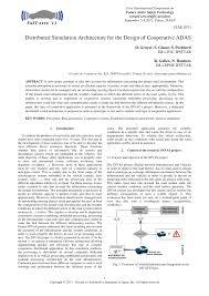 si e auto la route distributed simulation architecture for the design of cooperative
