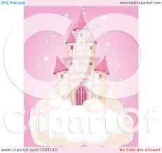 Castle On A Cloud Clipart Fairy Tale Castle On A Cloud Over Pink Royalty Free