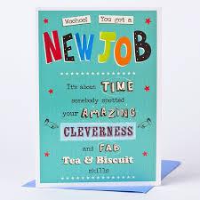 Congrats On New Job Card New Job Card Woohoo Only 89p