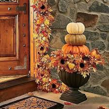 boutique autumn hues cordless lighted pre lit urn filler outdoor