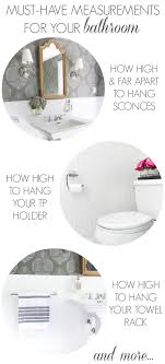 proper height to hang pictures must have measurements for your bathroom how high to hang your