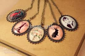 cameo necklace pendant images Wholesale vintage cameo necklace eiffel tour flower animal jpg