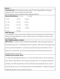 4th grade math lesson everyday math grade 5 unit 1 lesson plans by lessonplansny tpt
