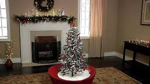 snowing tabletop tree with bedding bath