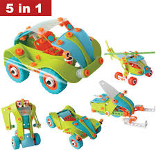 car toy clipart toys creative diy 5 in 1 soft plastic nuts assembled toy car