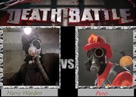 Pyro Meme - death battle idea 5 harry warden vs pyro by scarletspike on