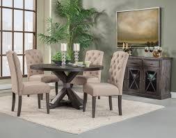 alpine furniture newberry 5 piece round dining room set in