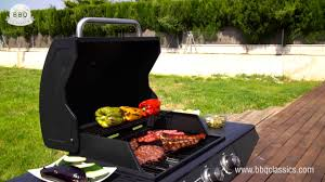 bbq classics gas barbecue with grill 3 burners youtube