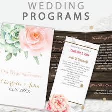 affordable wedding programs wedding programs reception programs mgdezigns