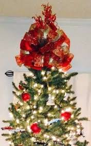tree topper deluxe large luxury bow