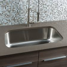 Large Kitchen Sinks Interesting Rectangle Shape Overmount Kitchen Sink Come With