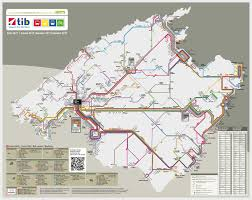 Majorca Spain Map Route And Bus Stop Map Ctm