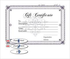 10 gift certificate templates word excel pdf formats