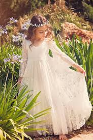 first communion dress flower off white lace dress