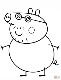 daddy pig coloring free printable coloring pages