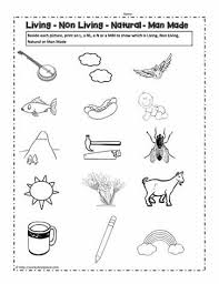 living and non living things worksheetsworksheets
