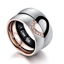 promise rings for men rings matching promise jewelry men women stainless steel